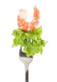 smakowita krewetki zielona sałatka Fotografia Stock