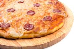 smakowita pepperoni włoska pizza zdjęcie stock