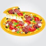 Smakowita pizza Zdjęcia Royalty Free