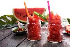 Smakowity świeży apetyczny arbuza napoju smoothie Arbuza dri obraz royalty free
