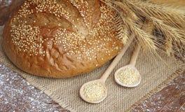 Smakowity chleb z spikelets Zdjęcia Stock