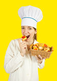 smakowity ciastka kucbarski łasowanie Obraz Stock