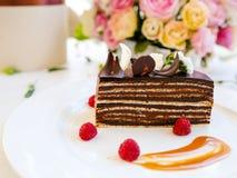 Smakowity czekoladowego torta deseru przepis Zdjęcie Royalty Free