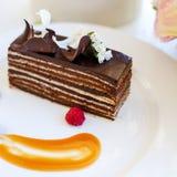 Smakowity czekoladowego torta deseru przepis Zdjęcia Royalty Free