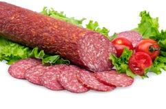 smakowity czerwony salami Zdjęcia Stock