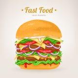 Smakowity hamburger ilustracja wektor