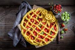 Smakowity i aromatyczny tarta z zdjęcia stock
