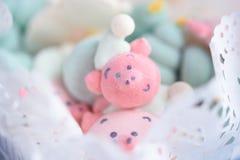 Smakowity i piękny kaganiec świni marshmallow obraz stock