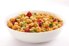 Smakowity i zdrowy chickpea curry'ego naczynie Zdjęcie Royalty Free
