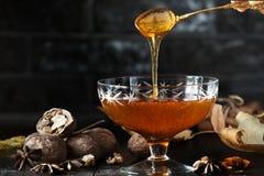 Smakowity i zdrowy miód delikatny Obrazy Stock