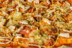 Smakowity jarzynowy pizzy zakończenie, makro- Zdjęcia Stock