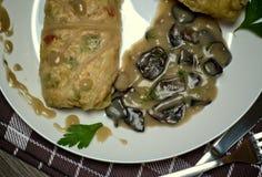 Smakowity jedzenia, odżywiania, kuchennego i kulinarnego pojęcie, Zdjęcia Stock