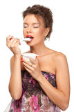 smakowity jogurt Fotografia Royalty Free