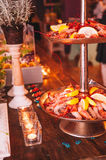 Smakowity kolorowy i wyśmienicie włoski bufet w restauraci Obraz Royalty Free