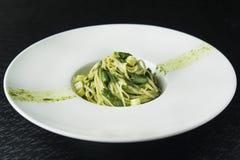 Smakowity makaron z asparaguson Obraz Stock