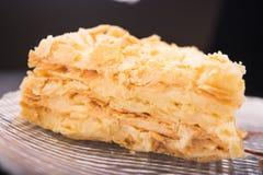 Smakowity napoleonu tort Obraz Stock