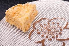 Smakowity napoleonu tort Fotografia Stock