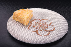 Smakowity napoleonu tort Obraz Royalty Free