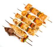 Smakowity piec na grillu mięso, shish kebab Fotografia Stock
