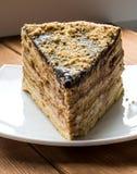 Smakowity ptysiowy czekoladowy tort Zdjęcie Stock