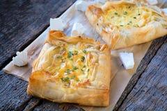 Smakowity serowy kulebiak Zdjęcie Royalty Free
