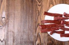 Smakowity skwarkowy snek Breadsticks Zakończenie Zdjęcie Royalty Free