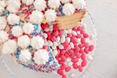 Smakowity tort dla dziecko prysznic przyjęcia obraz stock