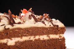 smakowity tortowy czekoladowy kremowy plasterek Zdjęcie Stock