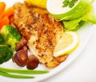 Smakowity rybi polędwicowy zdjęcie royalty free