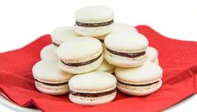 Smaksatt franska Macarons I för vanilj Royaltyfri Foto