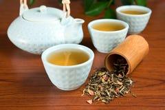 smaksatt grön tea Fotografering för Bildbyråer