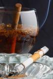 smaksatt teatobak för cigarett Royaltyfri Foto