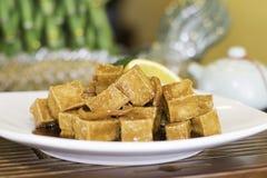 Smaksatt Tofu för apelsin Royaltyfri Bild