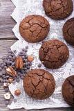 Smaksatta kakor för choklad Royaltyfri Bild