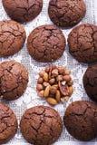 Smaksatta kakor för choklad Fotografering för Bildbyråer