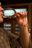 smakuje wino Zdjęcie Stock