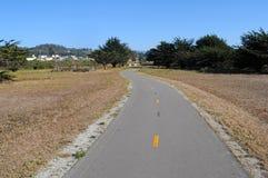 smal banaväg för cykel Arkivfoto