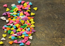 Smal candy in the form of hearts Royalty Free Stock Image