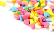 Smal candy in the form of hearts Stock Images