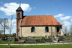 Small church. With graveyard from 1648 in Dorkwerd.The Netherlands Royalty Free Stock Images