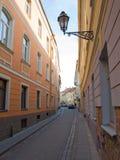 smal gata Fotografering för Bildbyråer