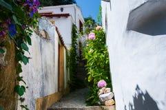 Smal gata av Sintra Royaltyfri Fotografi