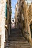 Smal gata i Dubrovnik, Kroatien Fotografering för Bildbyråer