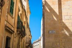 Smal gata i Malta Fotografering för Bildbyråer