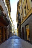 Smal gata i Verona Arkivbilder