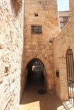 Smal gata, judisk fjärdedel, Jerusalem Royaltyfri Bild