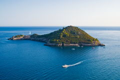 Smal island in the Argentario, Tuscany in Italy Royalty Free Stock Photos