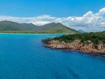 Smal isle in hideaway bay stock photo