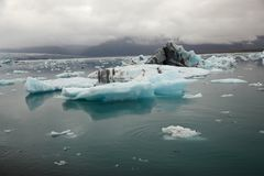 Smal melting icebergs, Iceland Stock Photos