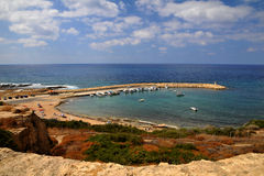 Smal port. Small marina at St, George area in Cyprus Royalty Free Stock Images